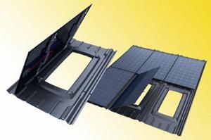 Пластмасова основа за фотоволтаични модули се интегрира в покрива