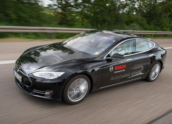 Bosch използва електромобили Tesla за автоматизирано шофиране