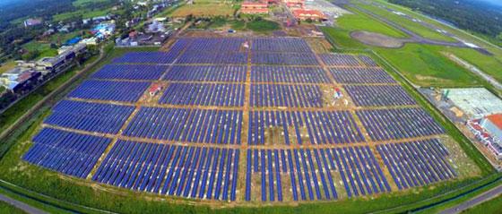 Летище, захранвано от слънчева енергия