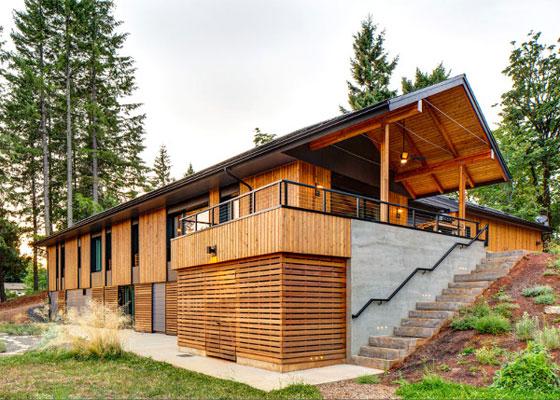 Пасивната къща Pumpkin Ridge консумира 90% по-малко топлинна енергия