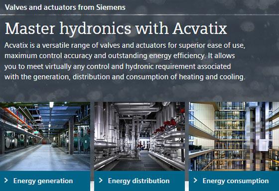 Нов уеб-базиран наръчник за избор на вентили Acvatix