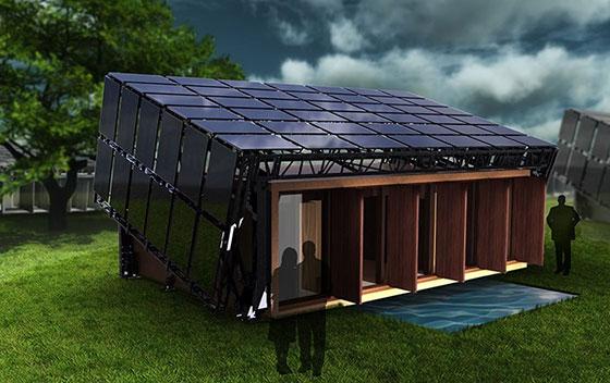 Въртящи се къщи следват слънцето, за да произвеждат енергия