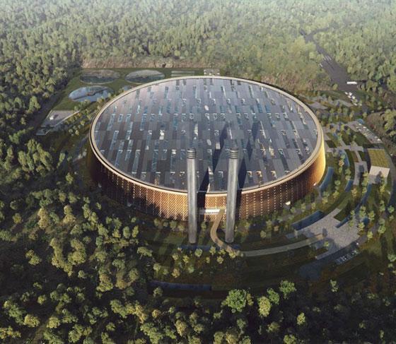 Завод за енергия от отпадъци в Китай ще е покрит с дървета и фотоволтаика