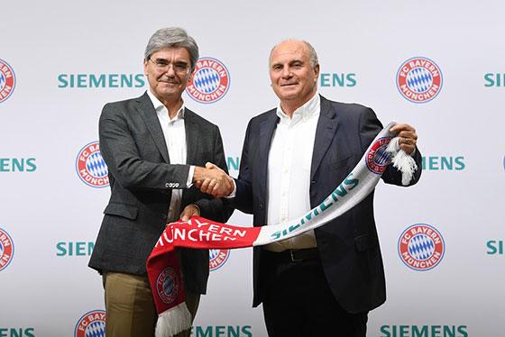 "Siemens и ФК ""Байерн"" подписаха 3-годишен договор за партньорство"